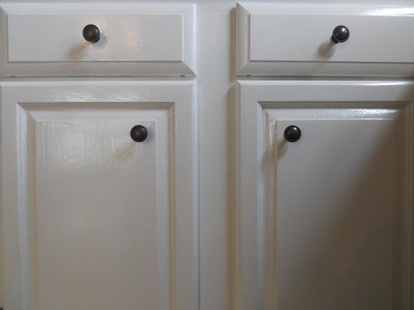 After clean stylish cabinets